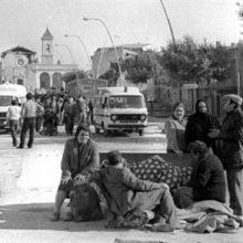 Dopo il terremoto a Lioni, in Irpinia, 1980