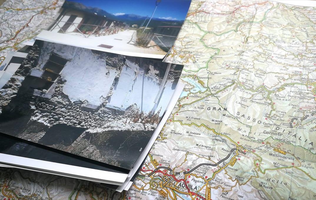 l'area terremotata del centro Italia, immagini